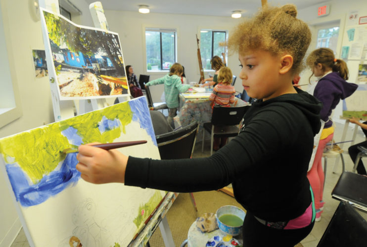 Blue Cabin painting class Mar 26-18
